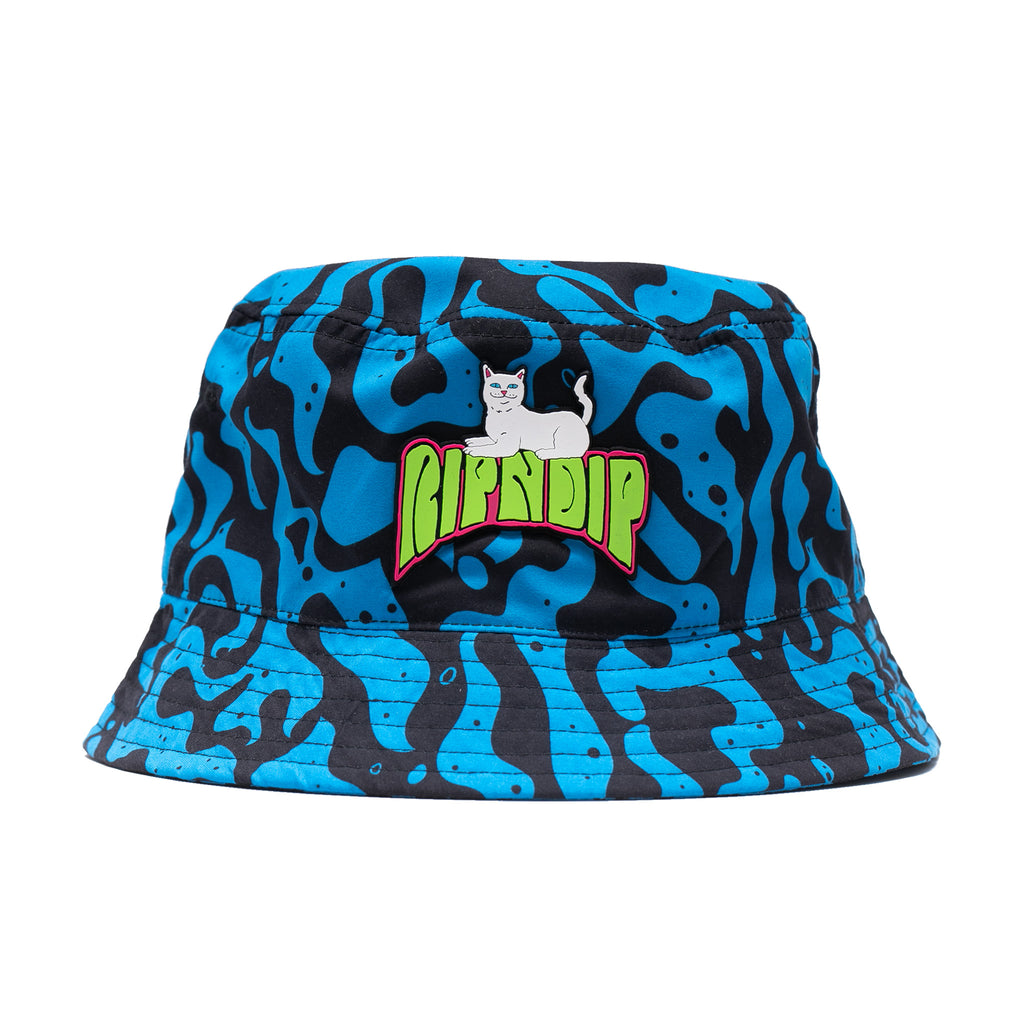 Psychedelic Bucket Hat (Black/Blue)