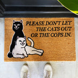 Don't Let The Cops In Door Mat (Brown)