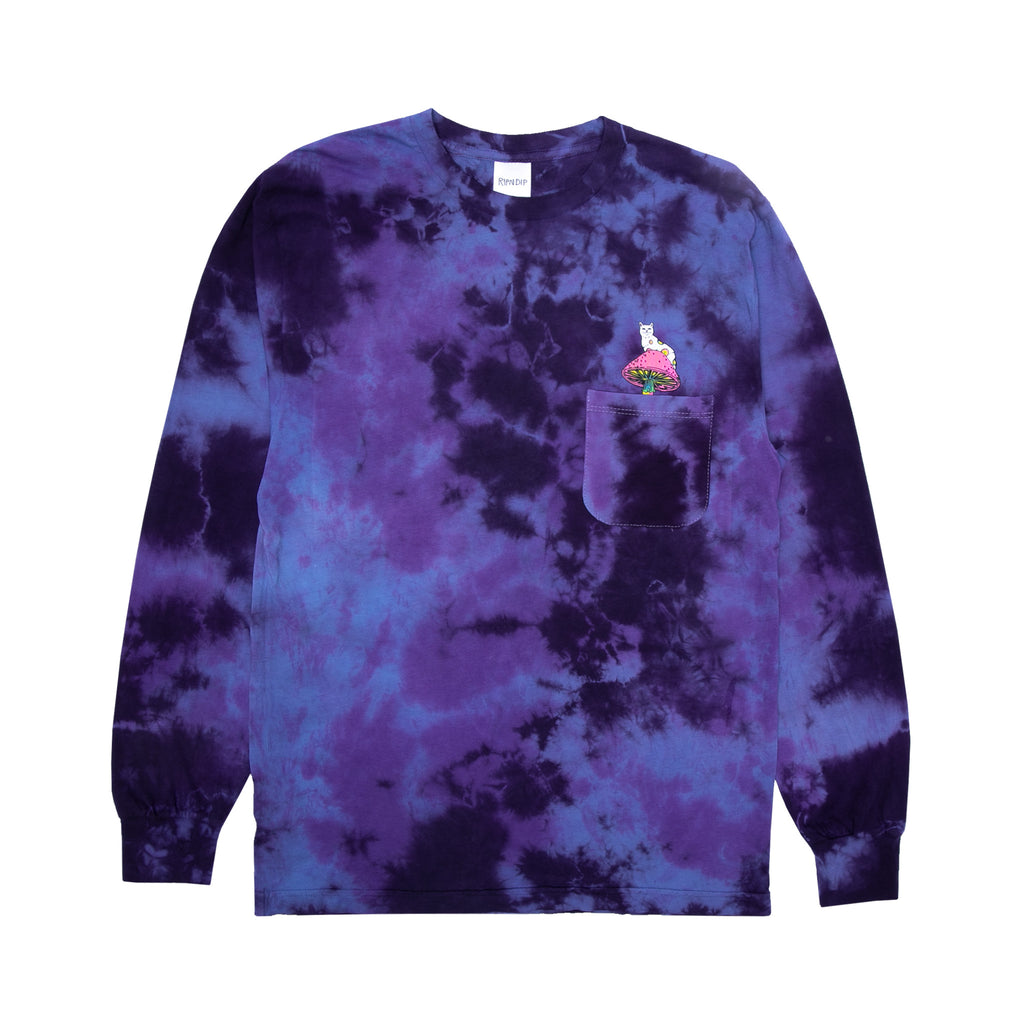 Psychedelic Nerm L/S (Blue/Purple Lightning Wash)