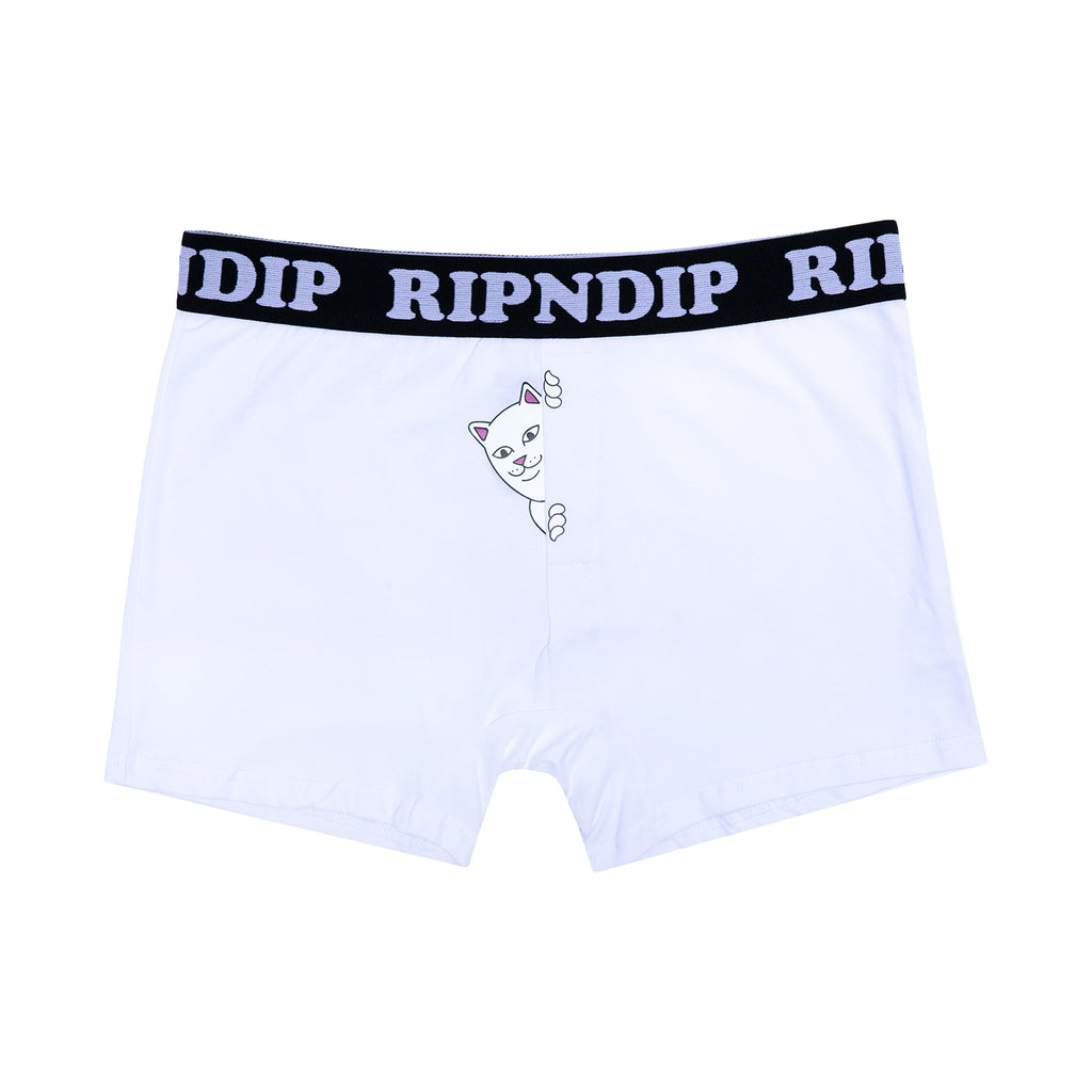 Peek A Nermal Boxers  (White)