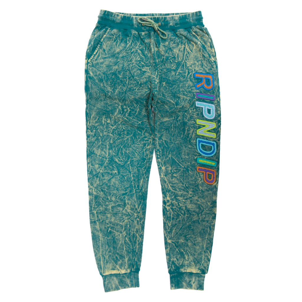 Prisma Sweatpants (Green/Yellow Tie Dye)