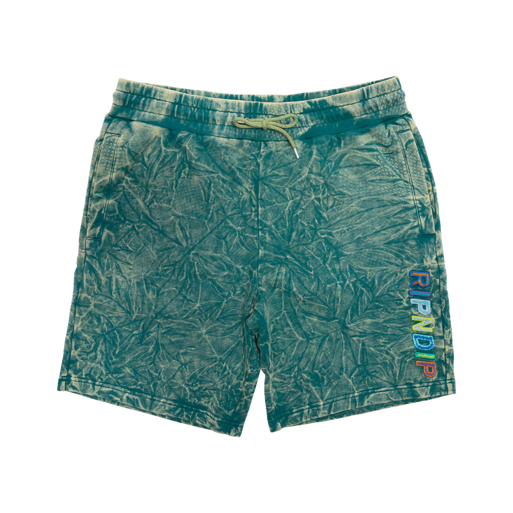 Prisma Sweatshorts (Green/Yellow Tie Dye)