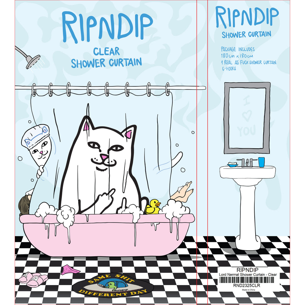 Lord Nermal Shower Curtain (Clear)
