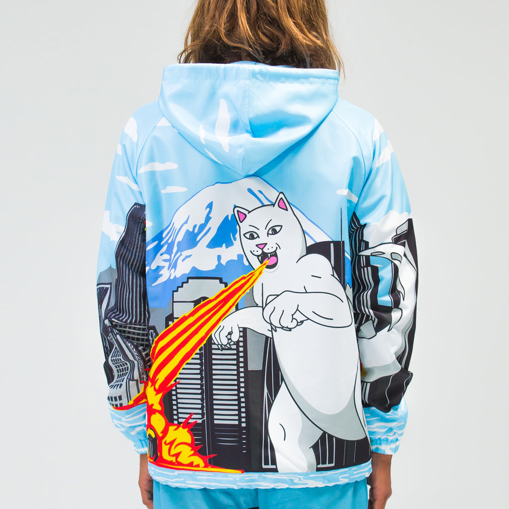 Nermzilla Hooded Coach Jacket (Baby Blue)