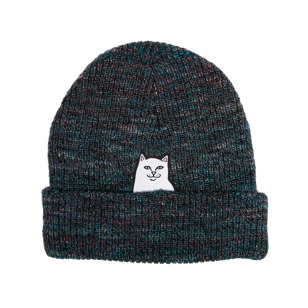 Lord Nermal Ribbed Beanie (Blue Speckle)