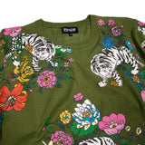 Blooming Nerm Knit Sweater (Olive Green)