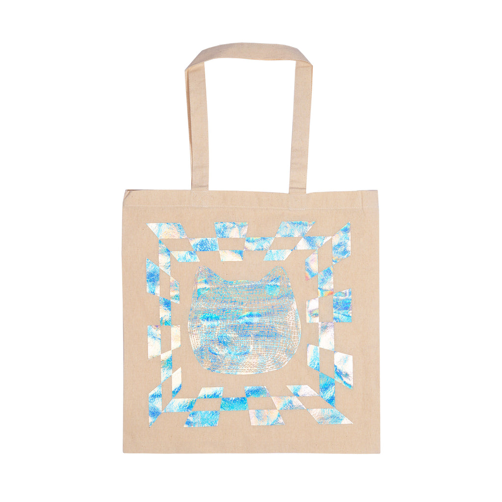 Illusion Reflective Tote Bag (Natural Canvas)