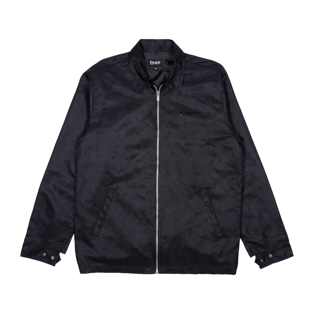 Black Out Nylon Jacket (Black)