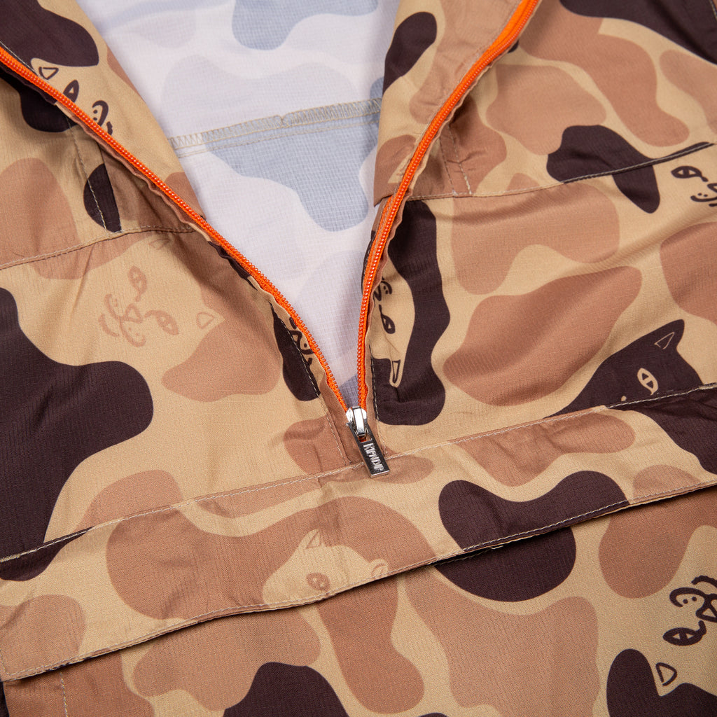 Nerm Camo Packable Anorak Jacket (Desert Camo)