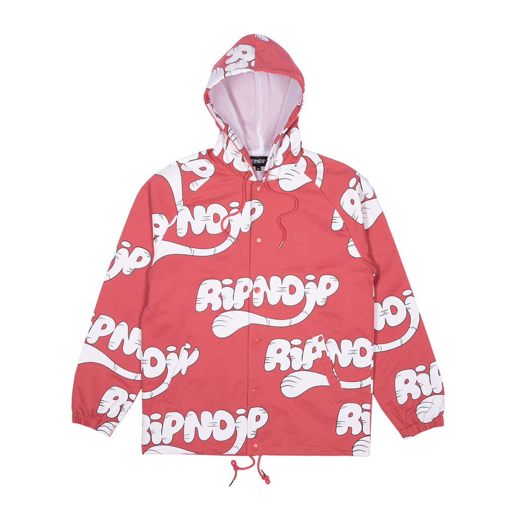RIPNTAIL Hooded Coaches Jacket (Watermelon)