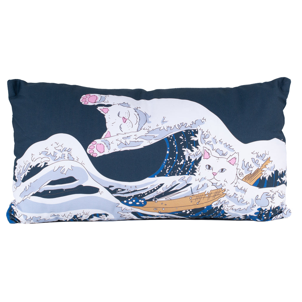 Great Wave Long Throw Pillow