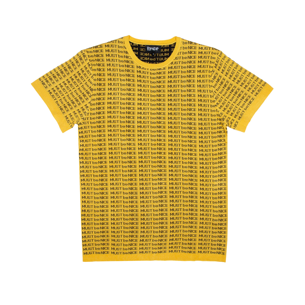 MBN Lines Knit Tee (Gold)