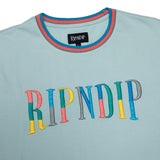 Color Block Logo Tee (Ice Blue)