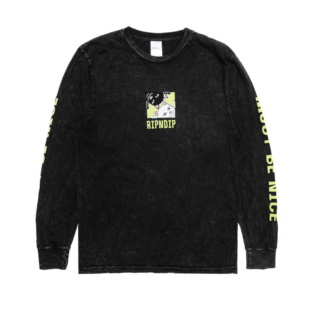 Besties L/S (Black Mineral Wash)