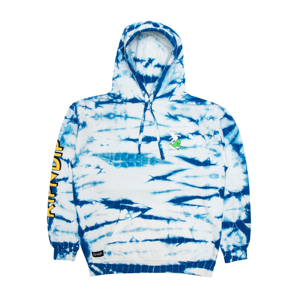 Hang Ten Hoodie (Baby Blue Stripe Wash)