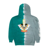 Splitting Heads Hoodie (Teal & Gray Split Wash)