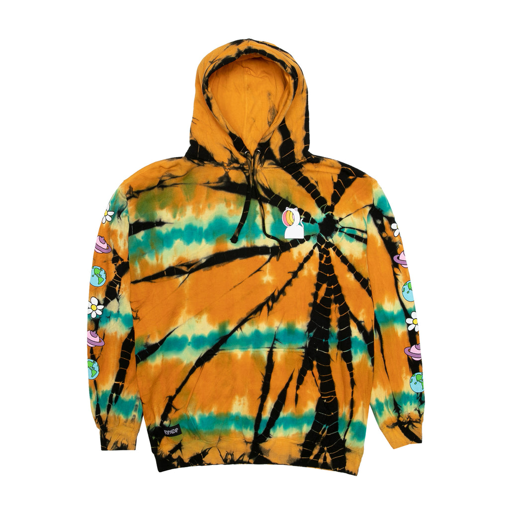 Open Minded Hoodie (Orange / Blue Sunburst Dye)