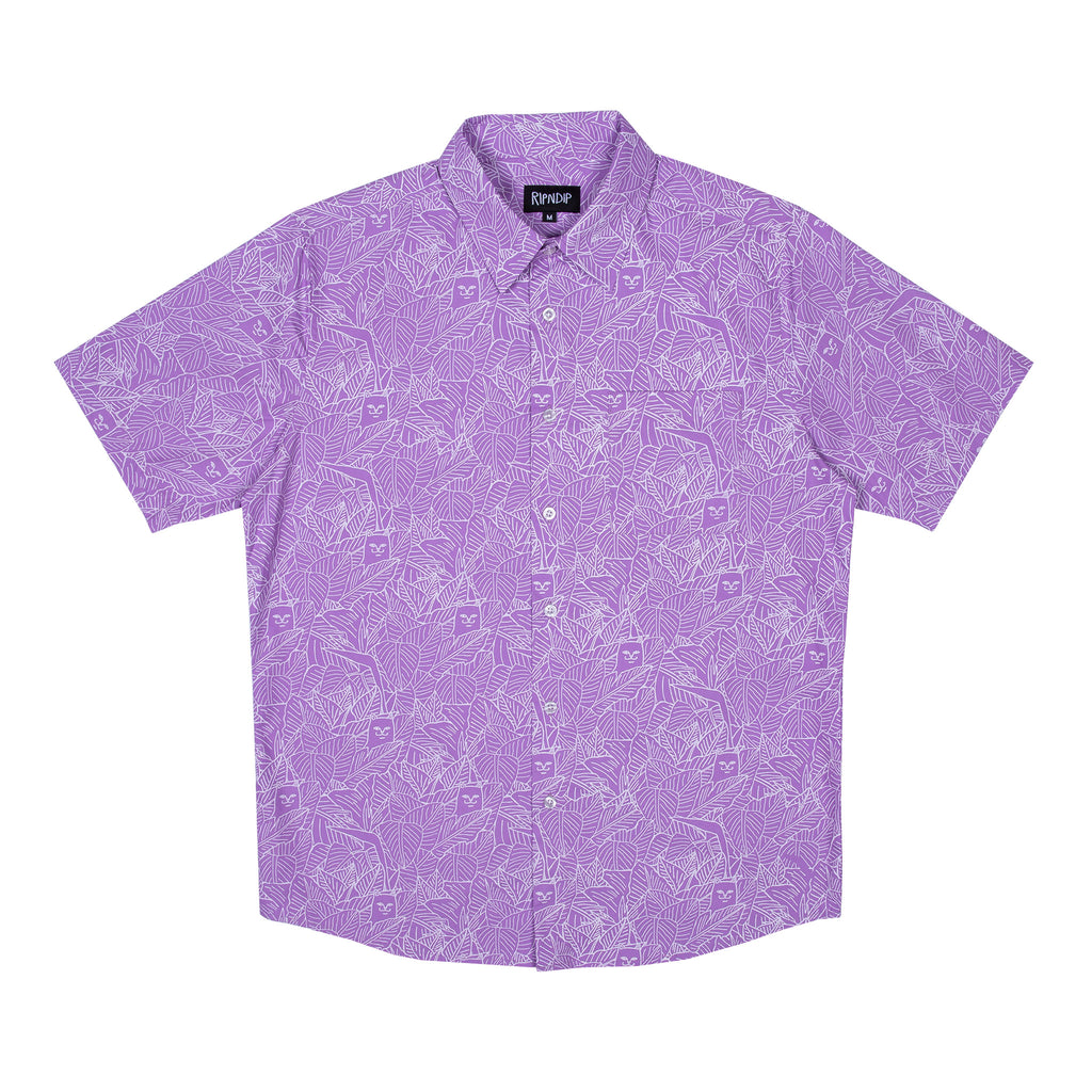 Nermal Leaf Button Up (Purple)