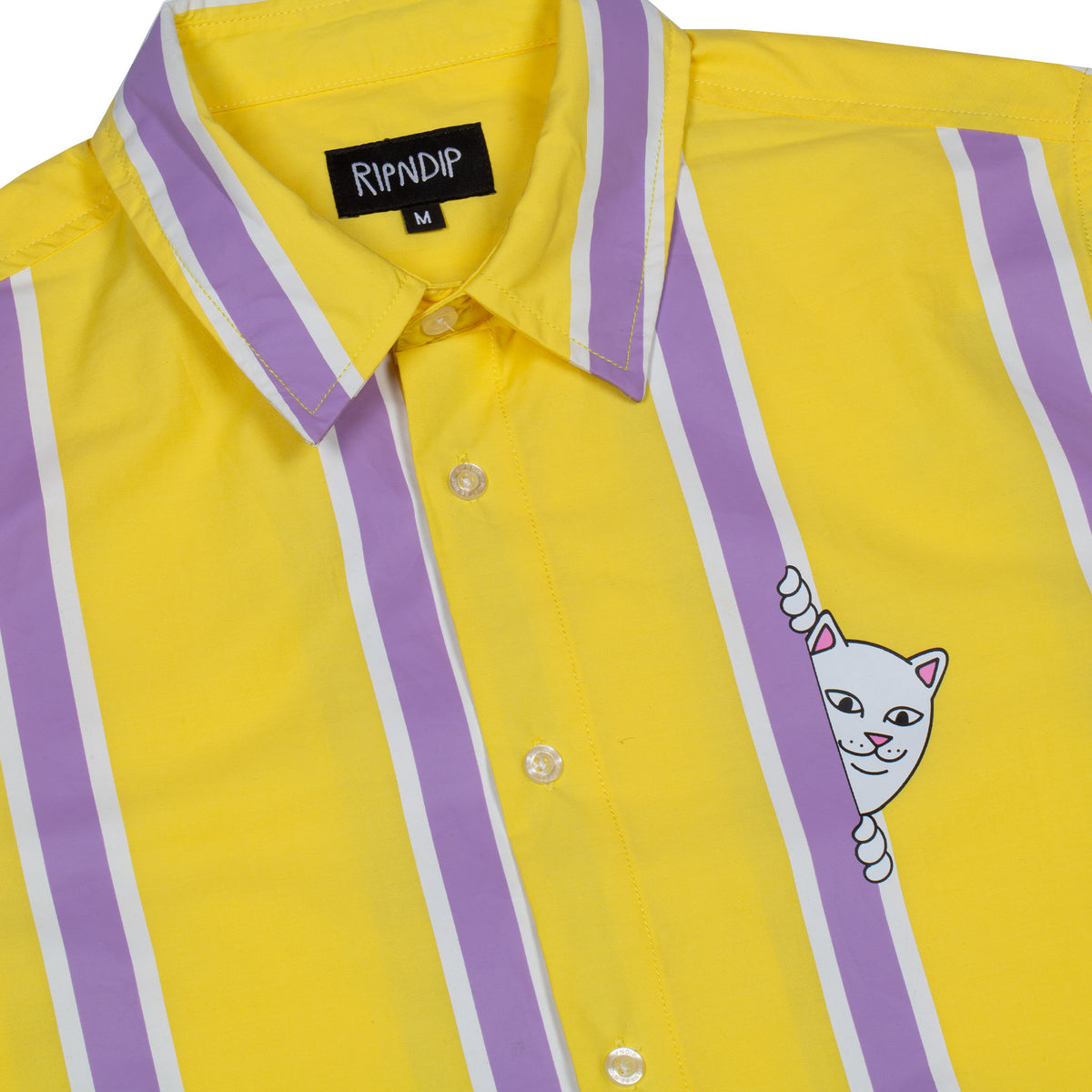 a8da41aadc6a85 Peek A Nermal Button Up (Yellow) – RIPNDIP
