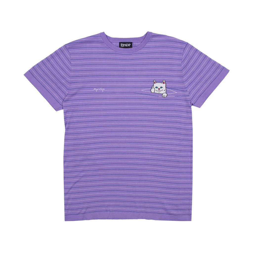 Peek A Nermal Knit Tee (Purple)