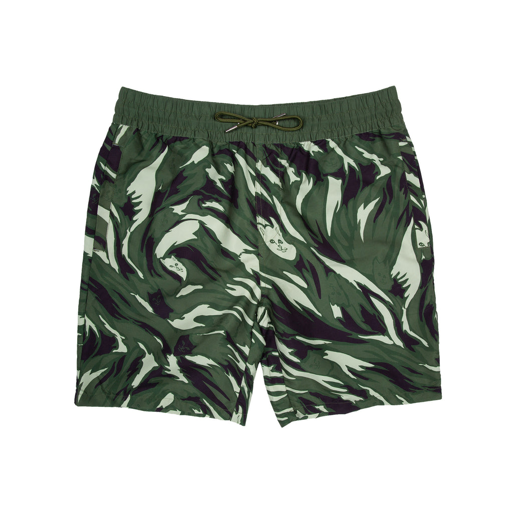 Tiger Nerm Swim Shorts (Green)