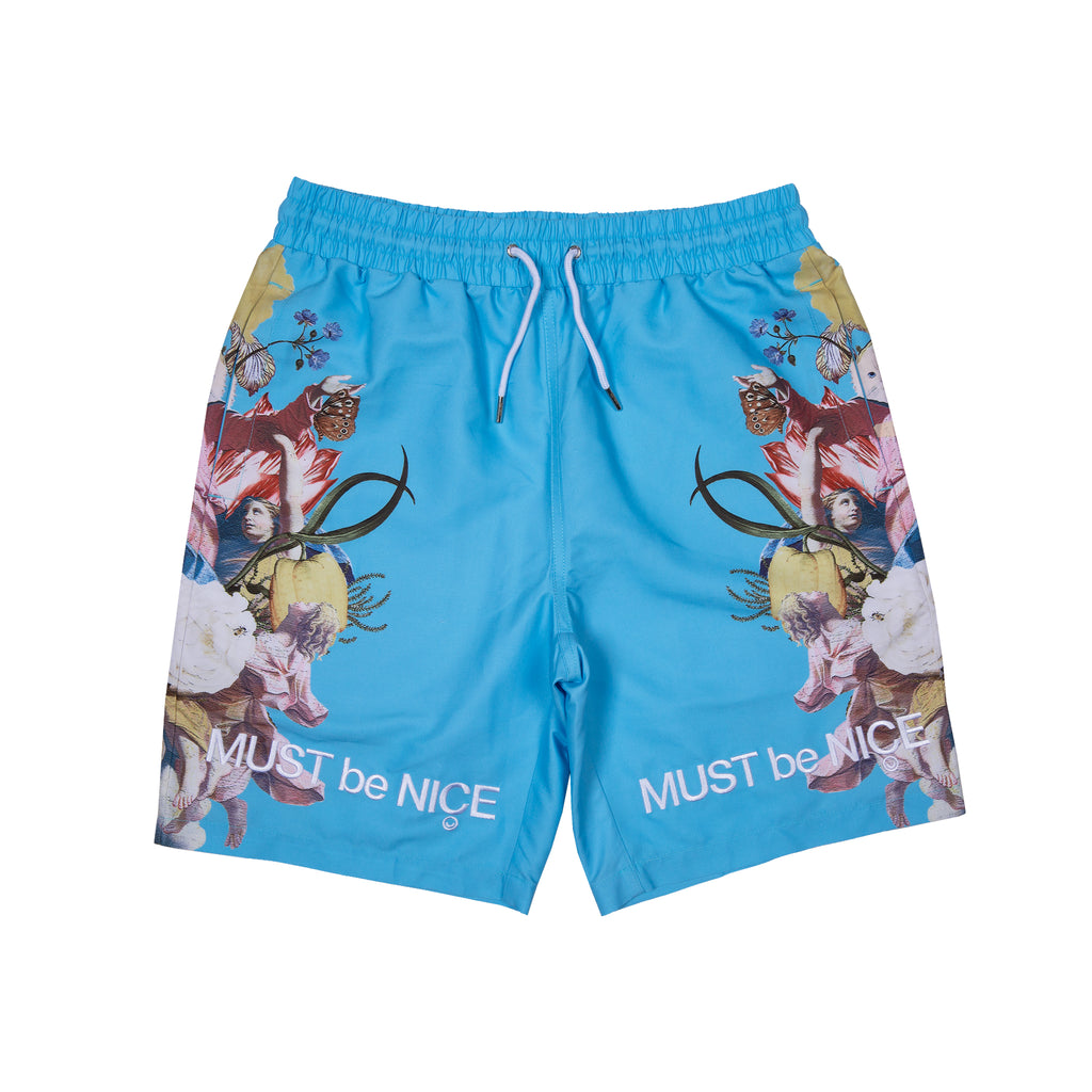 Heavenly Bodies Swim Shorts (Light Blue)