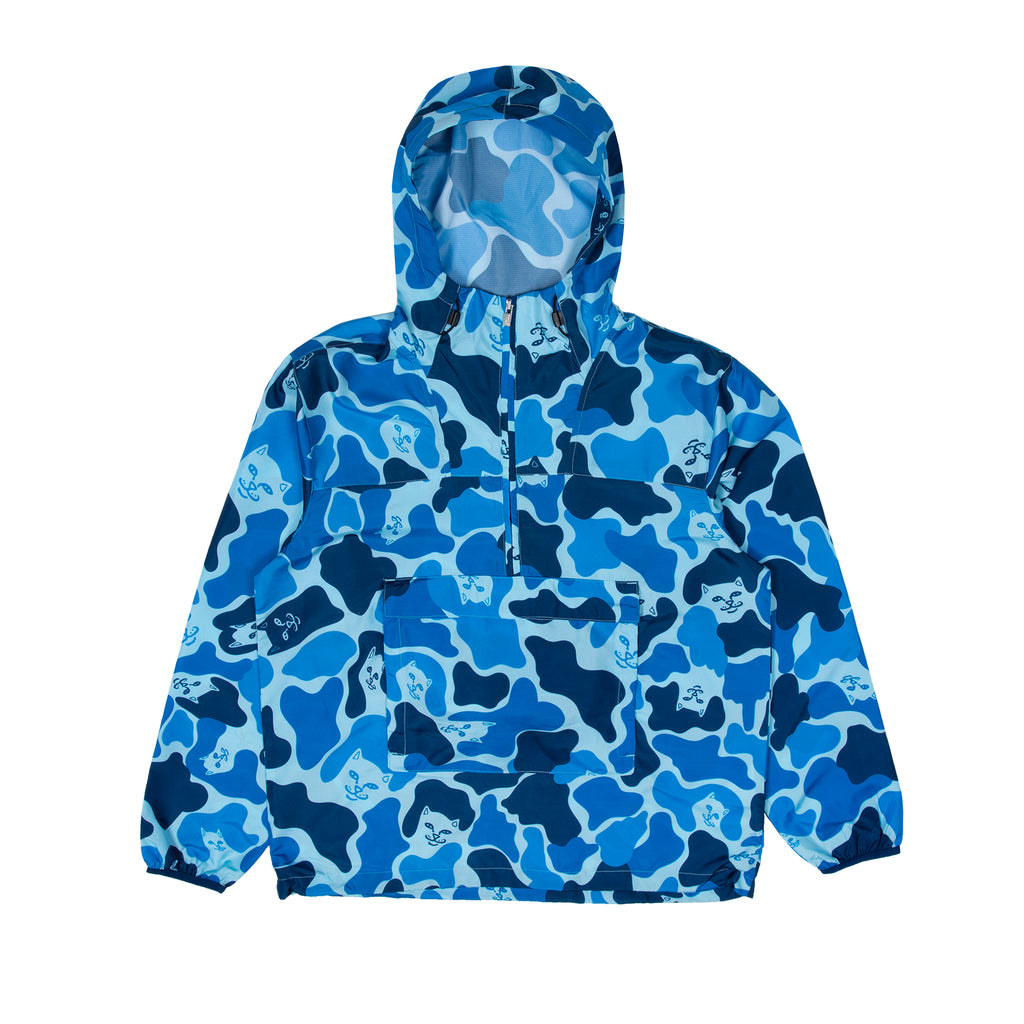 Nerm Camo Packable Anorak Jacket (Blue Camo)