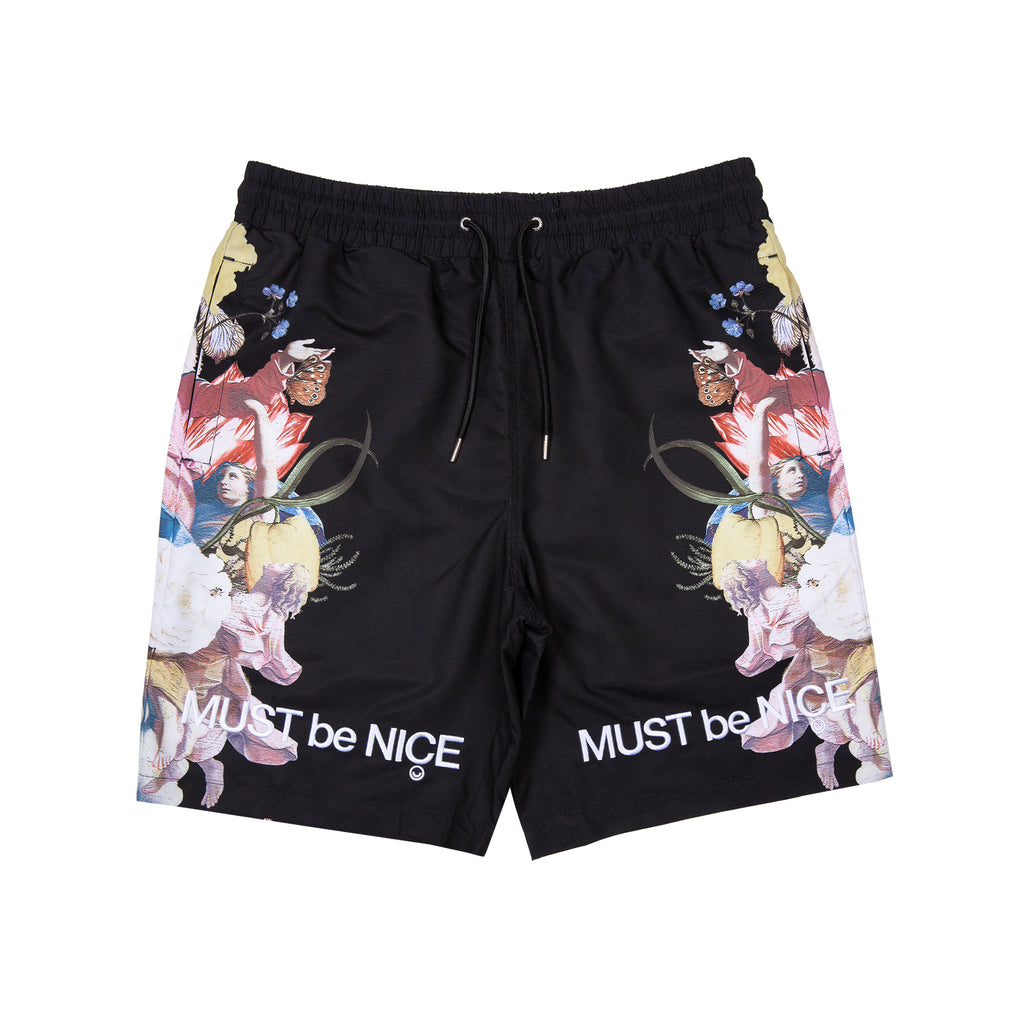 Heavenly Bodies Swim Shorts (Black)
