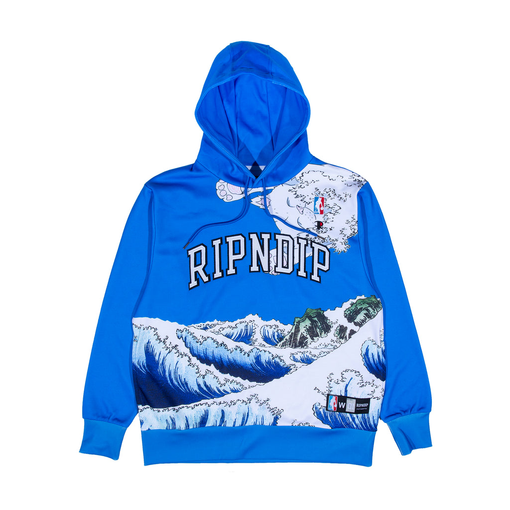 Great Wave Hoodie (Blue)
