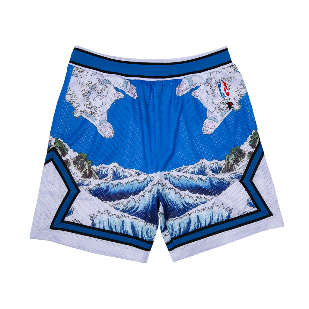Great Wave Mesh Basketball Shorts (Blue)