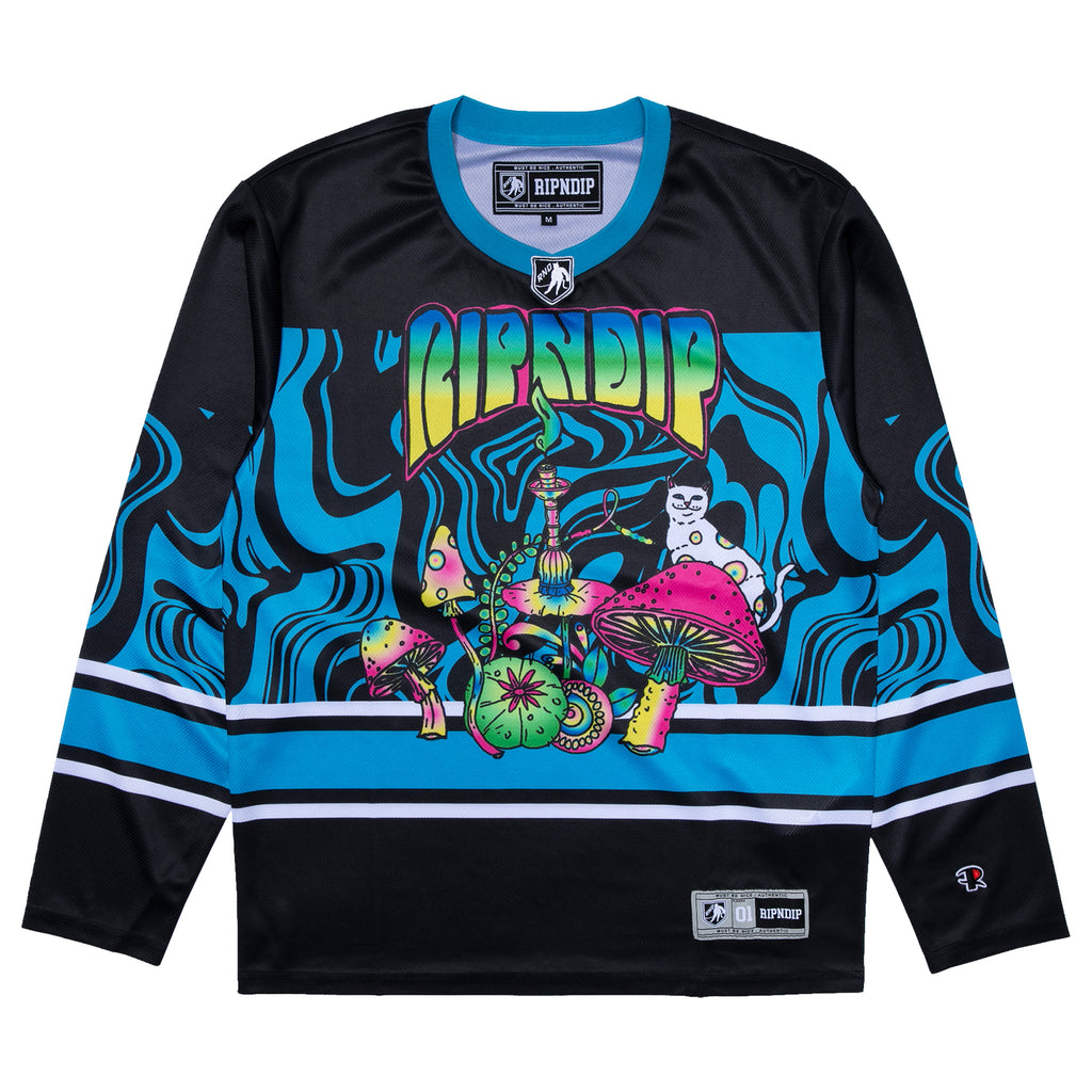 Psychedelic Hockey Jersey (Black)