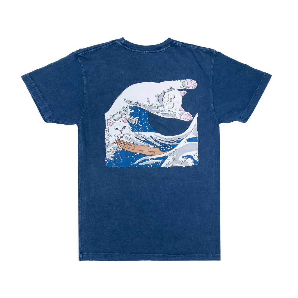 The Great Wave Of Nerm Tee (Blue Mineral Wash)