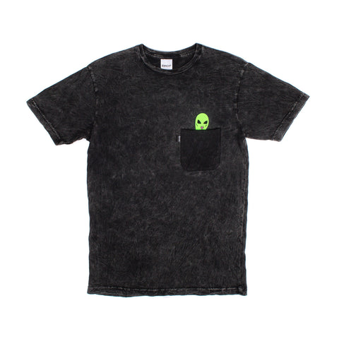 Lord Alien Pocket Tee (Black Mineral Wash)