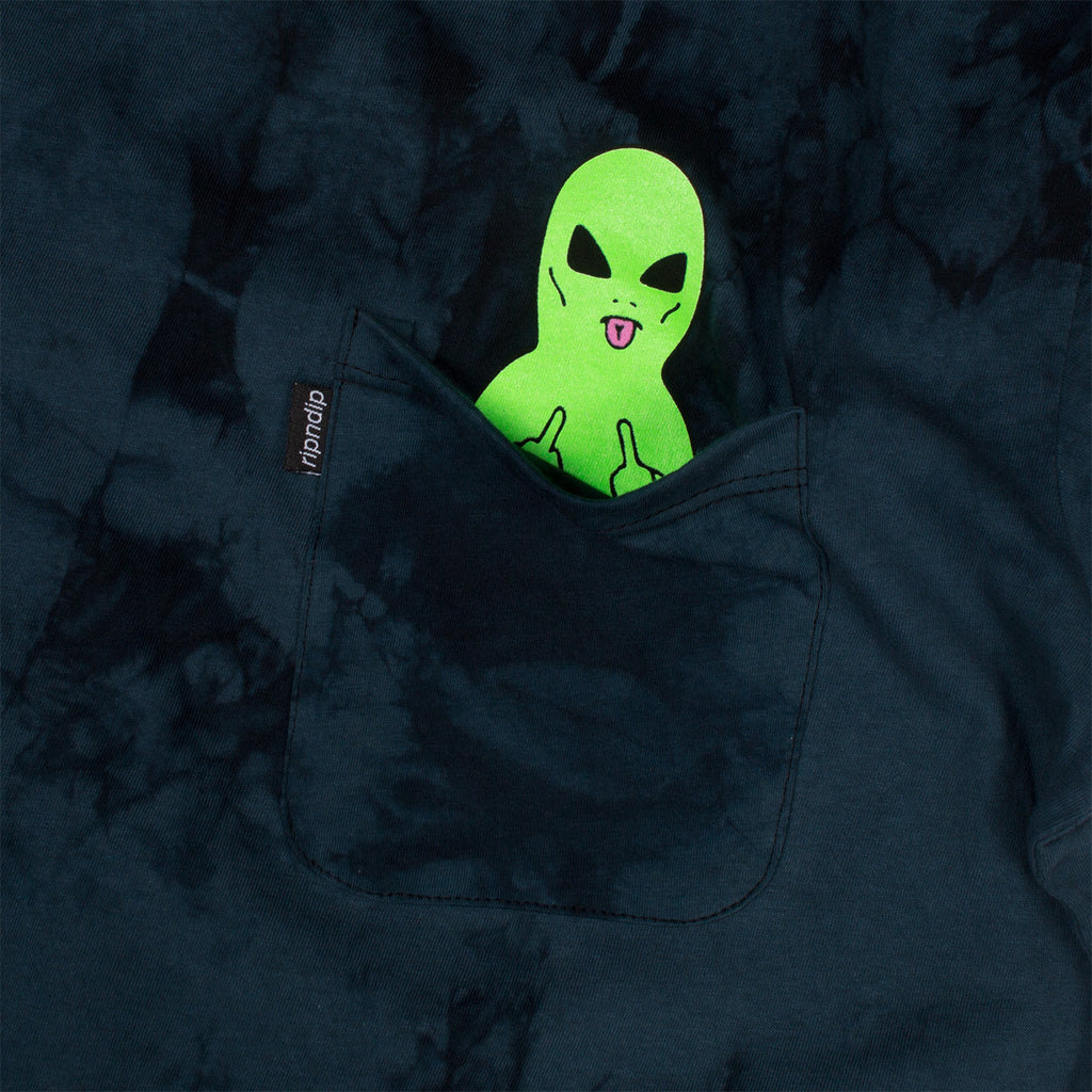 Lord Alien Pocket Tee (Blue Lightning Wash)