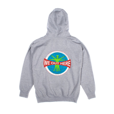 We Out Here Gridglobe Hoodie (Heather Grey)