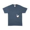 Falling For Nermal Pocket Tee (Indigo Heather)