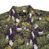 Jungle Nerm Button Up (Black)
