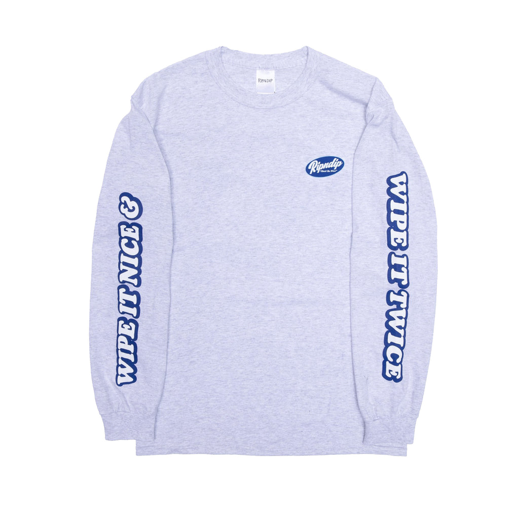 Wipe It Twice L/S (Heather Gray)