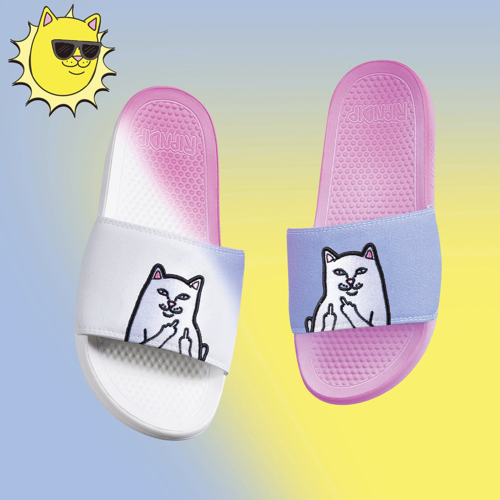 Lord Nermal Slides UV Activated (Blue/Fuschia)