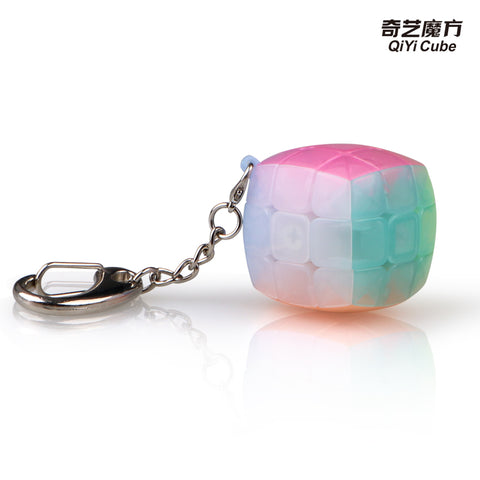 Qiyi KeyChain 3x3 Pillowed Jelly