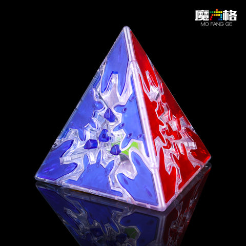 Transparent Gear Pyraminx