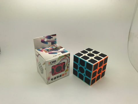 Z Cube Carbon Fiber Stickered Cube - Cubewerkz Puzzle Store