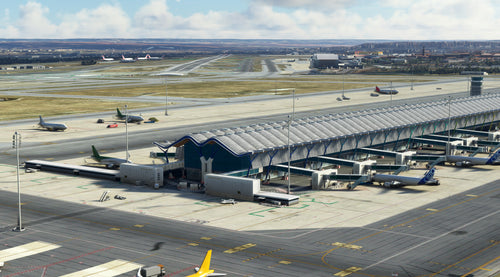 Madrid-Barajas airport LEMD and City for MSFS