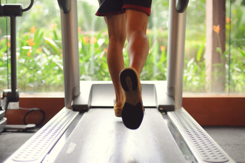 treadmill cardio workout - fitness tracking using a smart watch