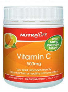 Nutralife Vitamin C Chewable Tablets 200's