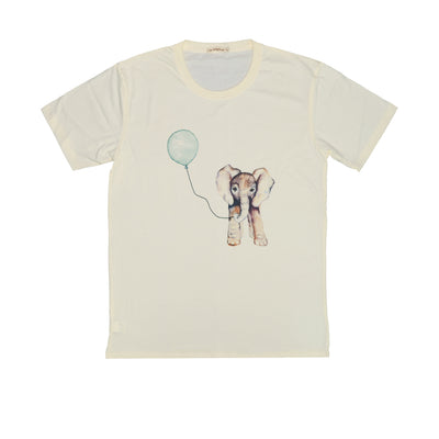 T-shirt Elephant's Balloon Tops tees outfits Unisex Round neck
