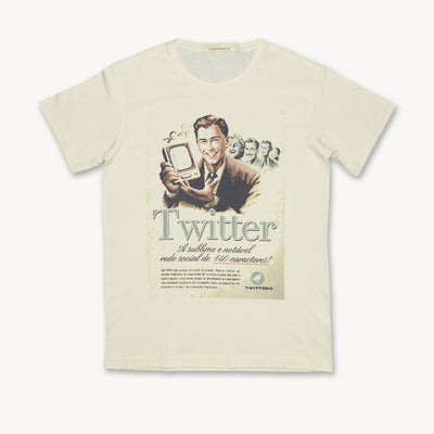 T-shirt Vintage Twitter advertising Poster Tops tees outfits Unisex Round neck
