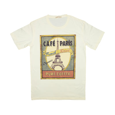 T-shirt Cafe Paris Tops tees outfits Unisex Round neck