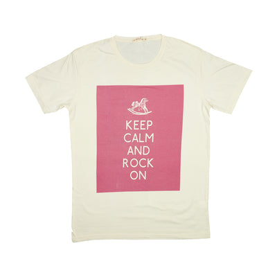 T-shirt Keep Calm and Rock On Tops tees outfits Unisex Round neck