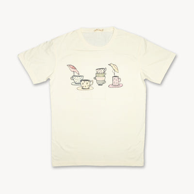 T-shirt Tea Time Tops tees outfits Unisex Round neck